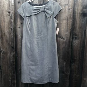 Dressbarn bow office dress back zipper